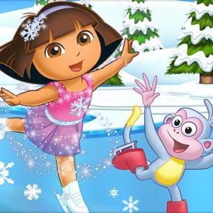 Juego Dora patinaje sobre hielo