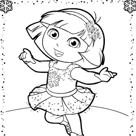 Dora patinando para pintar