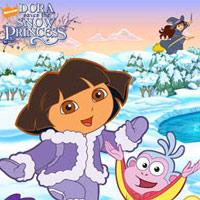 Juego de Dora salva a la Princesa de la nieve