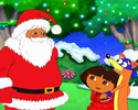 Dora, Swiper y Santa Claus