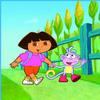 Puzzle Dora y Botas el Mono en el Campo