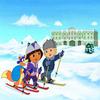 Rompecabezas Dora y Swiper en la nieve