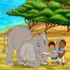 Rompecabezas con Diego en el Safari