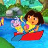 Puzzle de Botas y Dora en Barca