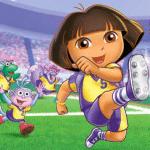 Dora_espectáculo_de_fútbol