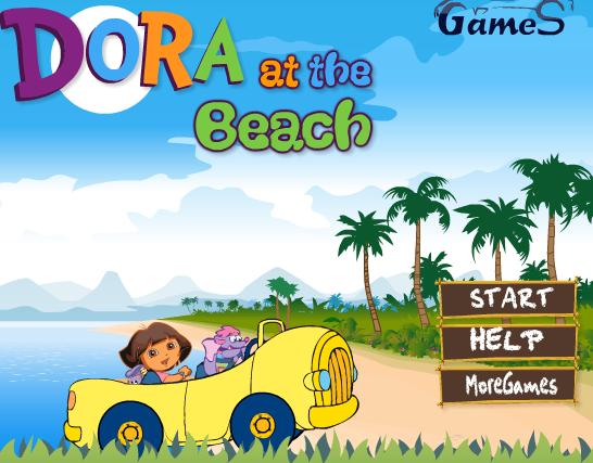 Juego a la Playa con el coche de Dora | Juegos Dora