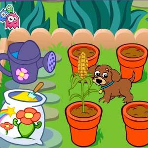 Juego jardin regar plantas Dora